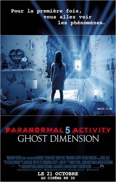 PARANORMAL ACTIVITY 5 : GHOST DIMENSION | PARANORMAL ACTIVITY: THE GHOST DIMENSION | 2015